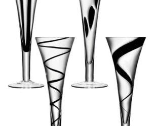 Black Champagne Flutes – Jazz