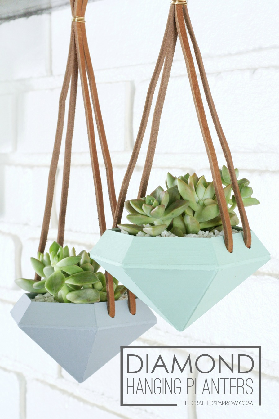 Leather hanging planters