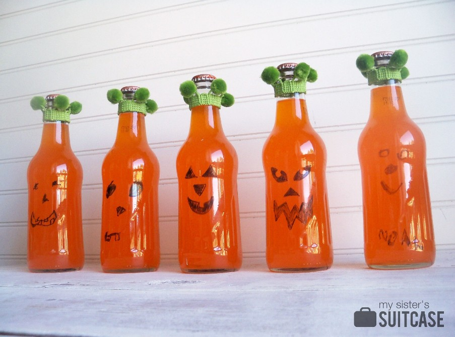 Make pumpkin bottles