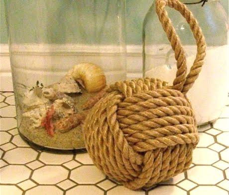 Nautical Door Stop From Rope