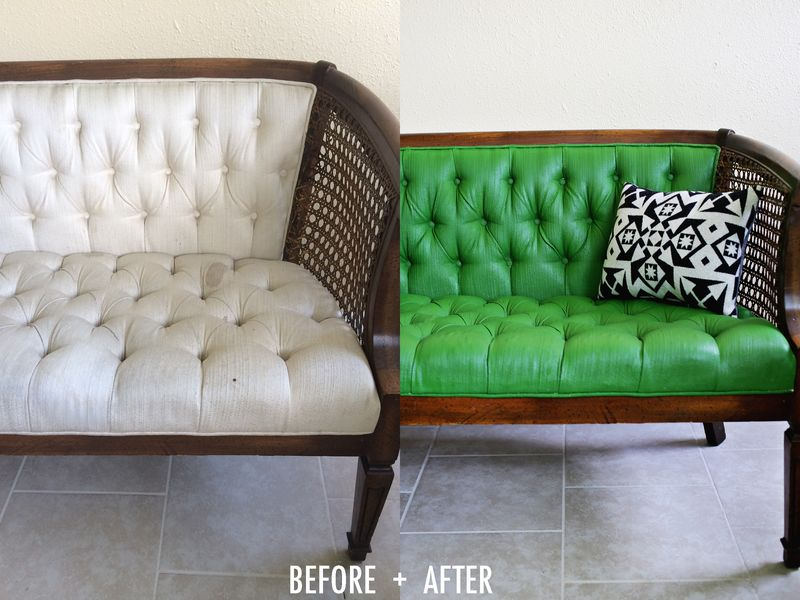 Painting upholstery bench