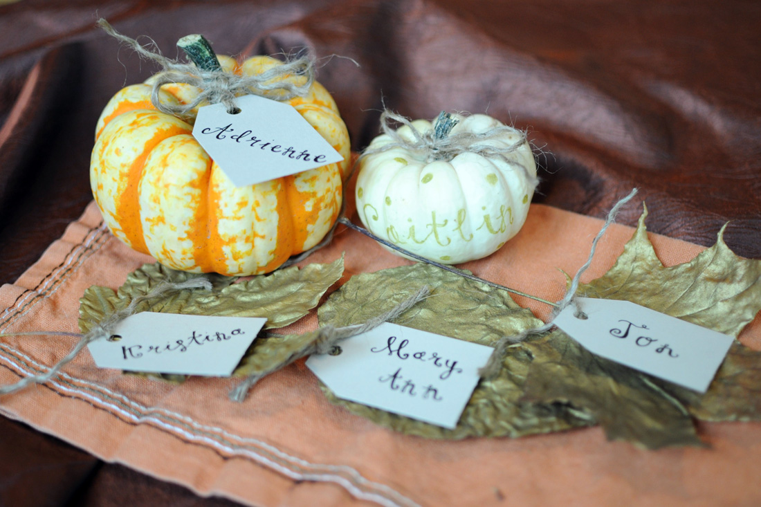 Pumpkin leaf cards