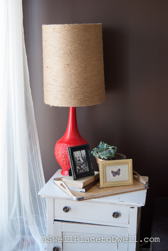 Red base lampshade