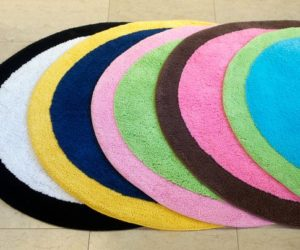 Colorful Spot-On Bath Mat