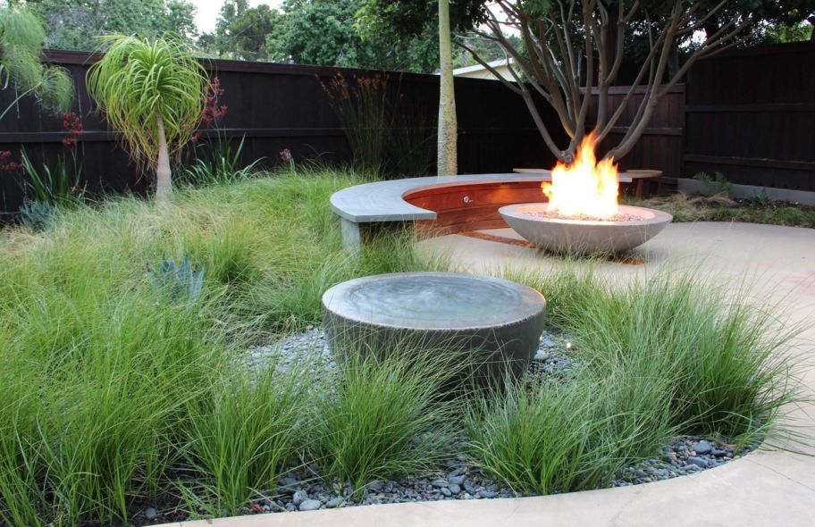 Take the fire bowl into the garden
