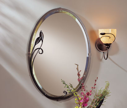 Oval Mirror With Leaves