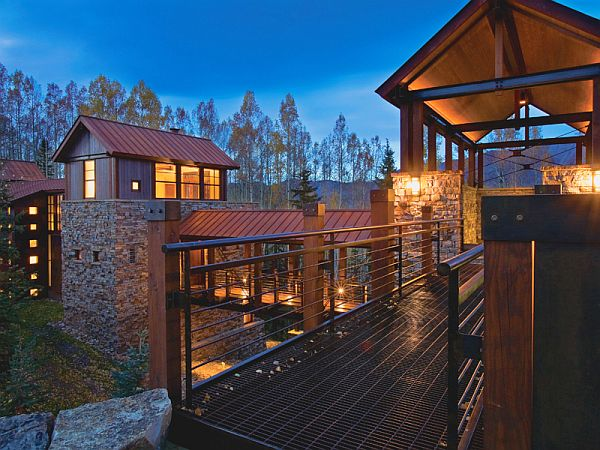The bridge contemporary mountain retreat in telluride for Mountain modern architecture