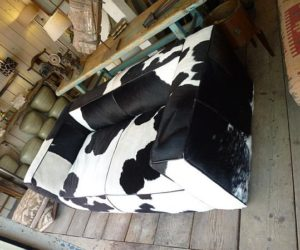 Black and White Cow Hide Couch