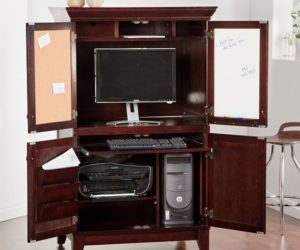 hidden office furniture. Chic Computer Armoire Hidden Office Furniture