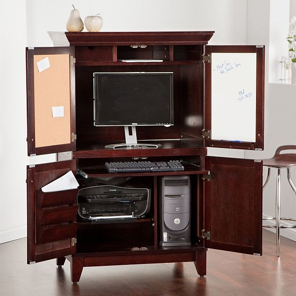 chic computer armoire. Black Bedroom Furniture Sets. Home Design Ideas