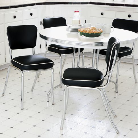 Stackable Diner Chair Set Of Two