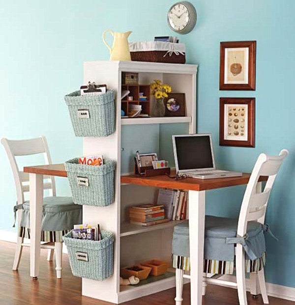 home office diy. DIY Double Desk. Home Office Diy E