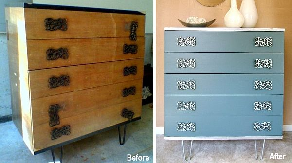 How to transform an old and ugly dresser into a show piece - Before and after old dressers makeover with a little paint ...
