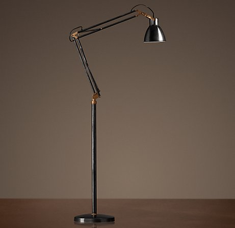 Adjustable studio task floor lamp