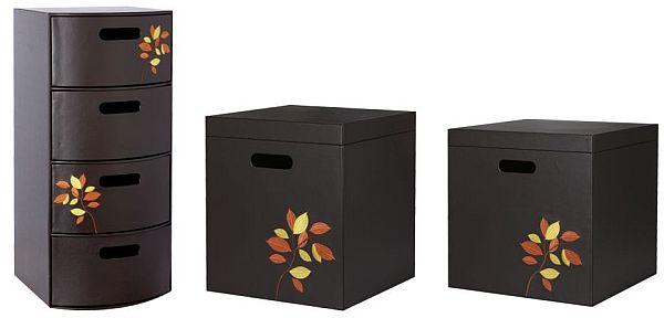 Autumn Leaf Lidded Storage Box