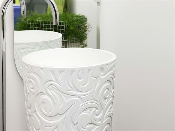 Free standing washbasin by Bruna Rapisarda