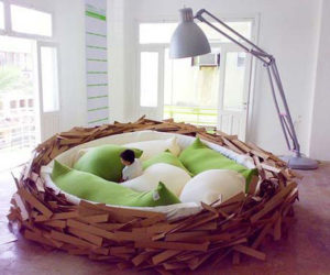 ... Lovely Nest Chair For Your Patio Area Interesting Bird Nest Giant Bed  ...