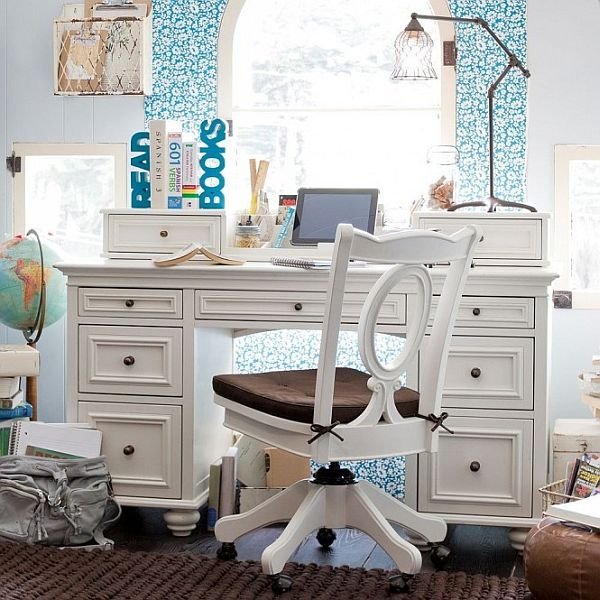 outstanding teenage home teens desk white popular golfocdcom ideas girl tlsplant desks for design