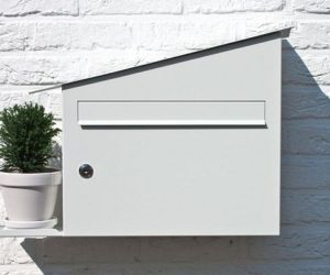 Outdoor inox mail box by Marcial Ahsayane