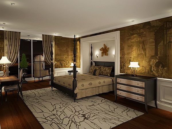 how to decorate the wall above the bed. Black Bedroom Furniture Sets. Home Design Ideas