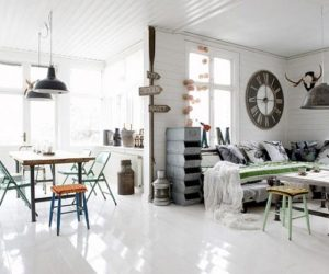 ... Industrial and yet vintage interior design