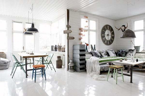 Industrial and yet vintage interior design for Idee deco retro chic