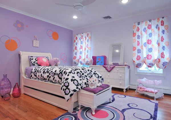 Bedroom Colors For Kids how to decorate a bedroom with purple walls