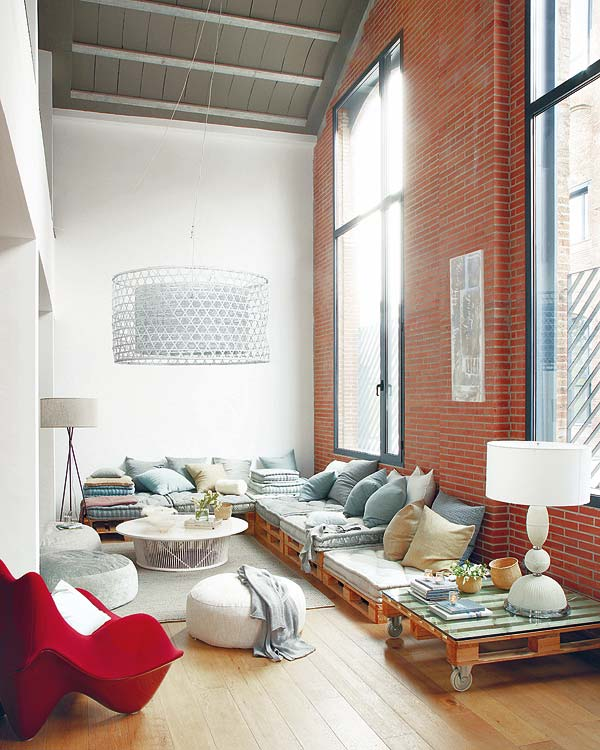 Loft dreams with pallte tables