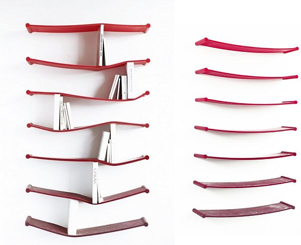 Superior Unconventional Bendy Rubber Bookshelf By Luke Hart Great Pictures