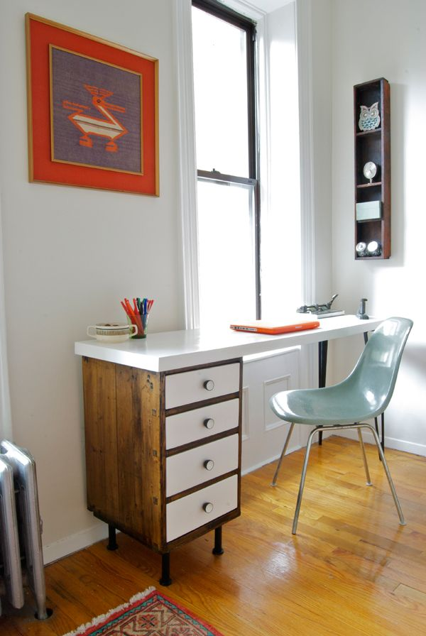 diy home office ideas. 13. Mid-Century Modern Desk. Diy Home Office Ideas A