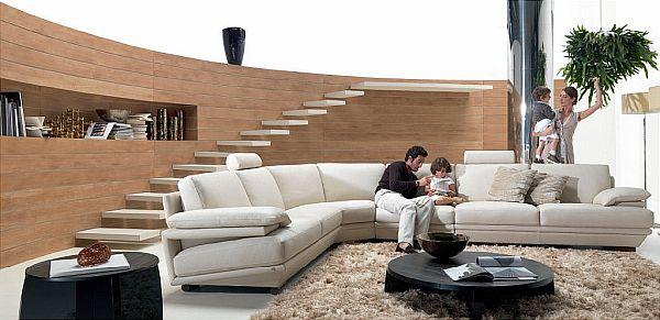 Beije corner sofa