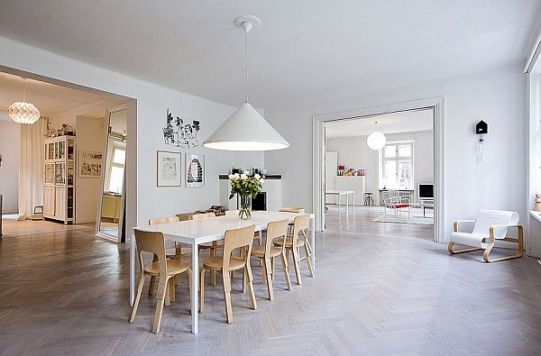 Stylish corner apartment with a bright interior décor