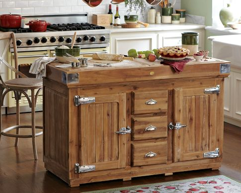 The berthillon french kitchen island for Antique kitchen island