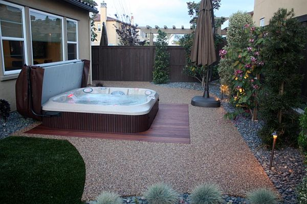 8 ways to place your original outdoor jacuzzi - Jacuzzi 2 places exterieur ...
