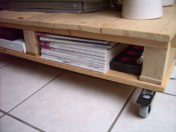 Tv unit from pallet