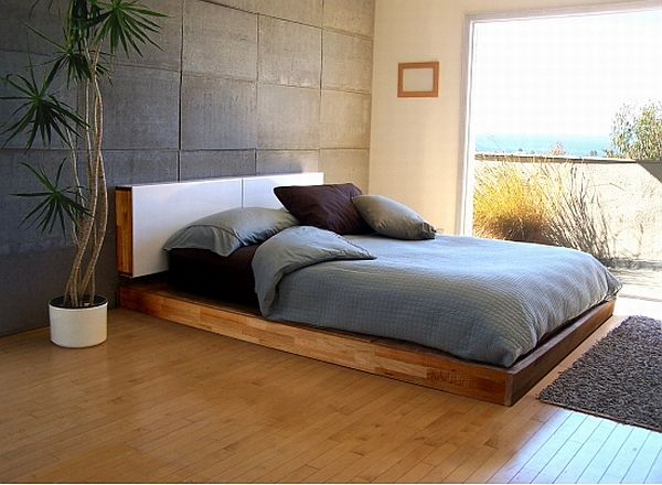Mounted Headboard and Platform Bed Set