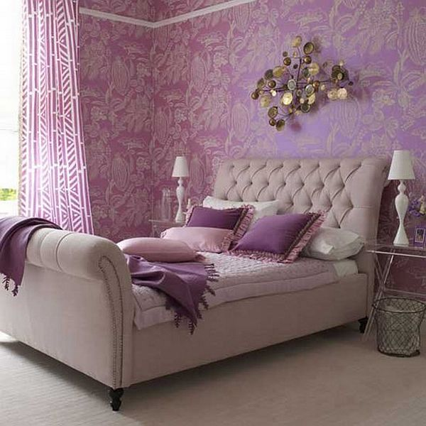 Furniture. How To Decorate A Bedroom With Purple Walls