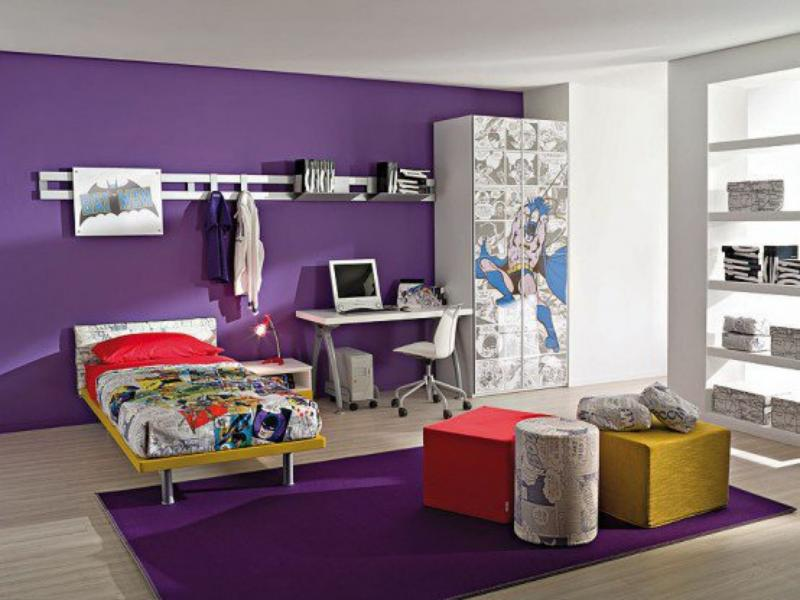 How To Decorate A Bedroom Adorable How To Decorate A Bedroom With Purple Walls Inspiration Design