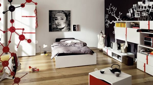 Exceptional Modern And Simple But Also Bold And Striking Bedroom Interior ...
