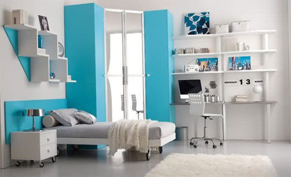 bedroom interior both fun and fresh view - Interior Teen Bedroom Design