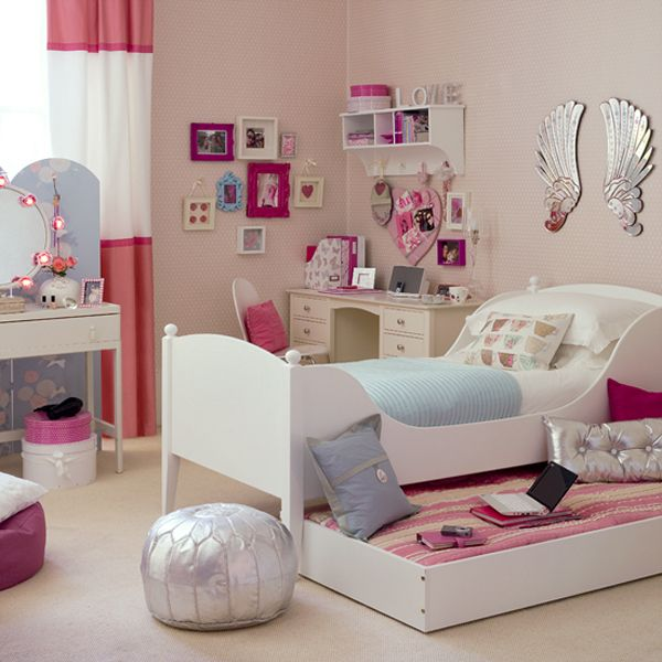 pink bedroom furniture.  View 55 Room Design Ideas for Teenage Girls