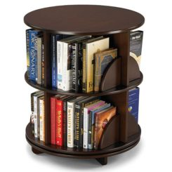 Bi-level rotating bookcase