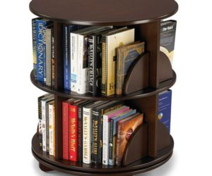 Bi-level rotating bookcase