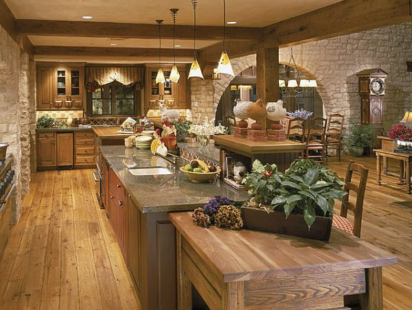 Kitchen Design Rustic create a rustic kitchen design with the help of stone veneers