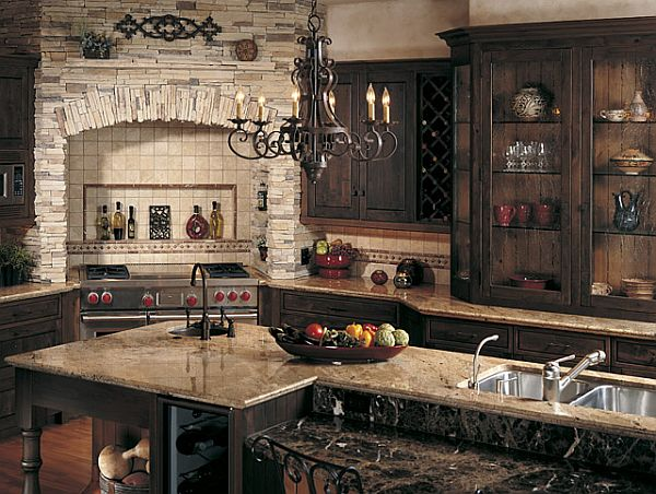 small rustic kitchen ideas create a rustic kitchen design with the help of veneers 22032