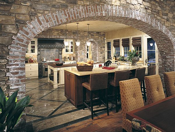 Kitchen Design Help create a rustic kitchen design with the help of stone veneers