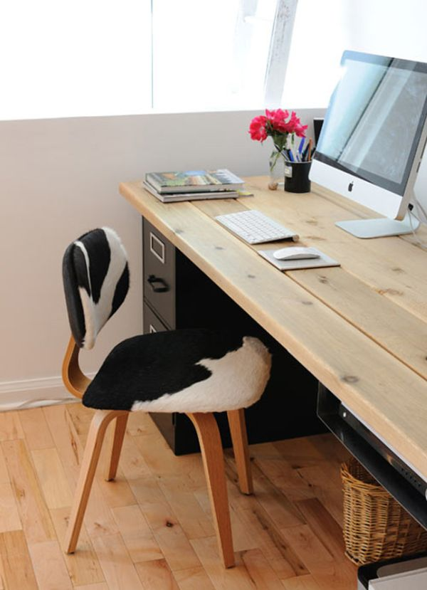 wood office table. 20 DIY Desks That Really Work For Your Home Office Wood Table I