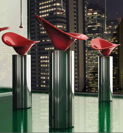 Flower Shaped Sinks by GlassDesign