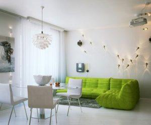 Small apartment interior design in St. Petersburg