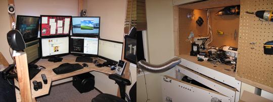 Steve Price's 9-Monitor Workstation